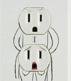 power outlet art