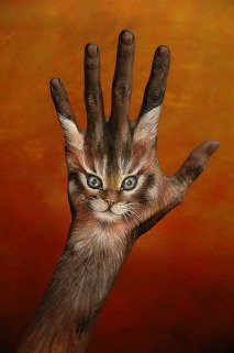Kitty Hand Art