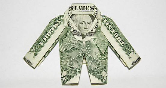 Jacket One Dollar Origami