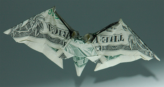 Bat One Dollar Origami
