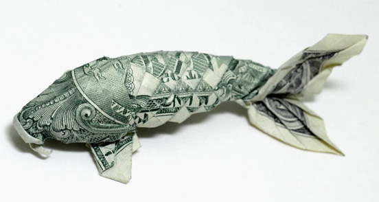 One Dollar Origami Catfish