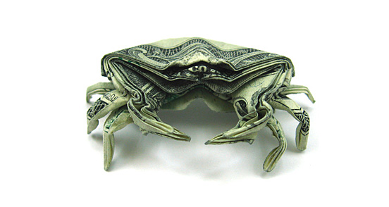 Crab One Dollar Origami