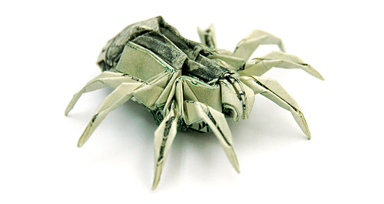 Spider One Dollar Origami