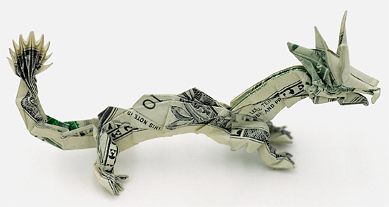 Dragon One Dollar Origami