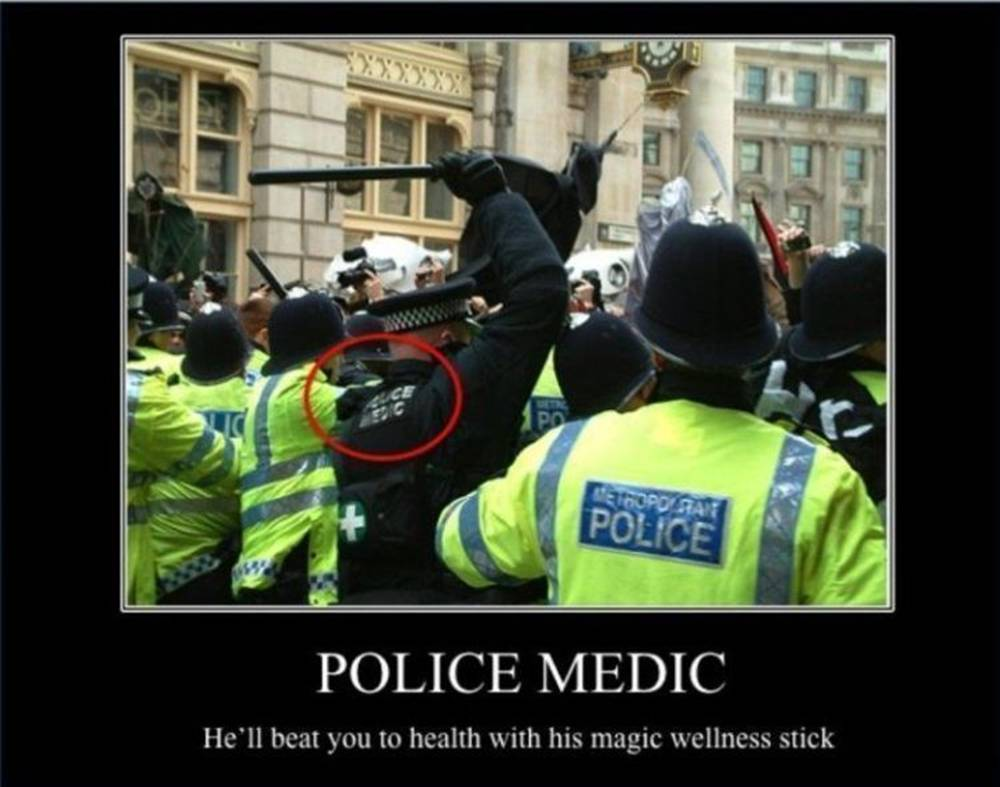 Police Medic Demotivational Poster