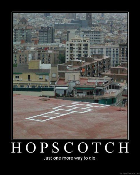 Hopscotch DeMotivational Posters