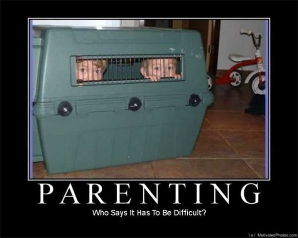 Parenting Kennel DeMotivational Posters