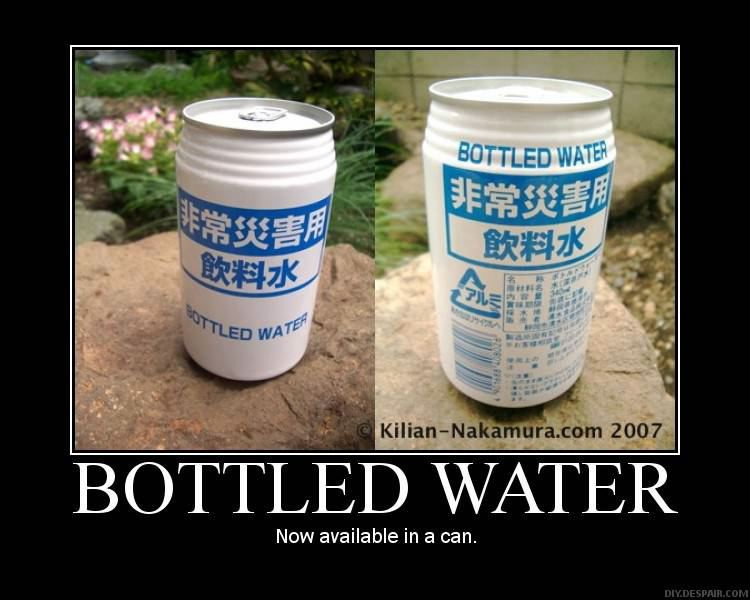 Bottled Water DeMotivational Posters